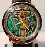 Accutron 214 Spaceview 'B'-SS yellow marks/hands