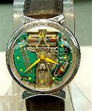 Accutron 214 Space -Bowtie SS yellow marks/hands