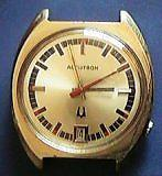 Accutron 2181 - Gold Dial-date @6
