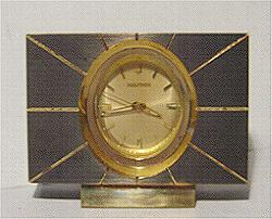 Accutron Brass Mini Clock Stock# 802c