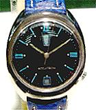 Accutron 2182 up & down black dial
