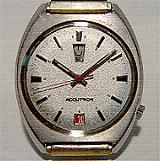 Accutron 2182 up & down silver dial